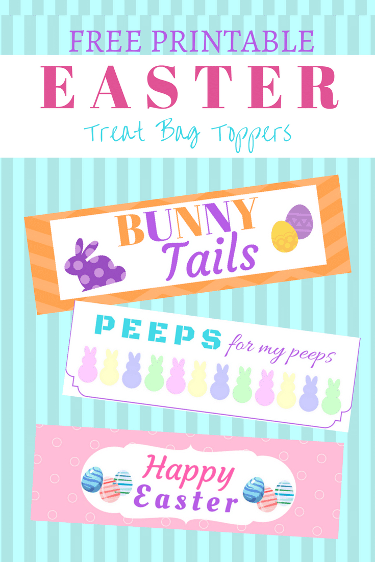 3 Free Easter Treat Bag Toppers Printable - The Frugal Farm Girl - Free Printable Bag Toppers