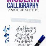 3 Free Printable Modern Calligraphy Practice Sheets (Printable Crush   Modern Calligraphy Practice Sheets Printable Free