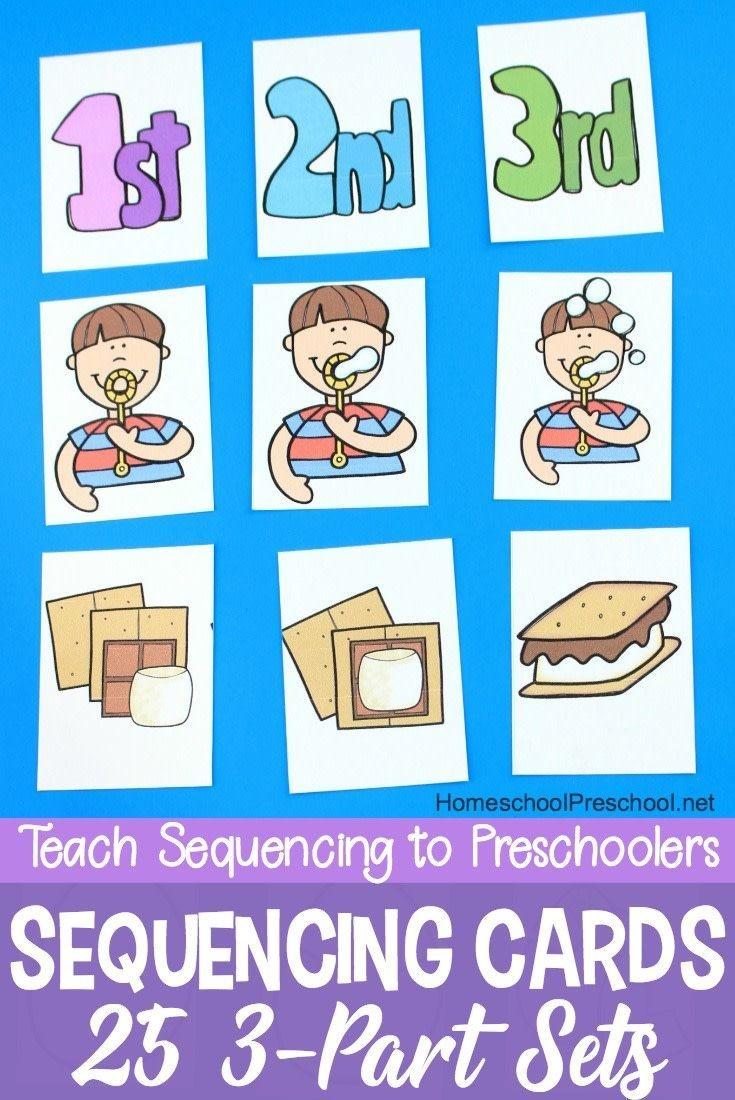 3 Step Sequencing Cards Free Printables For Preschoolers - Free Printable Sequencing Worksheets For Kindergarten