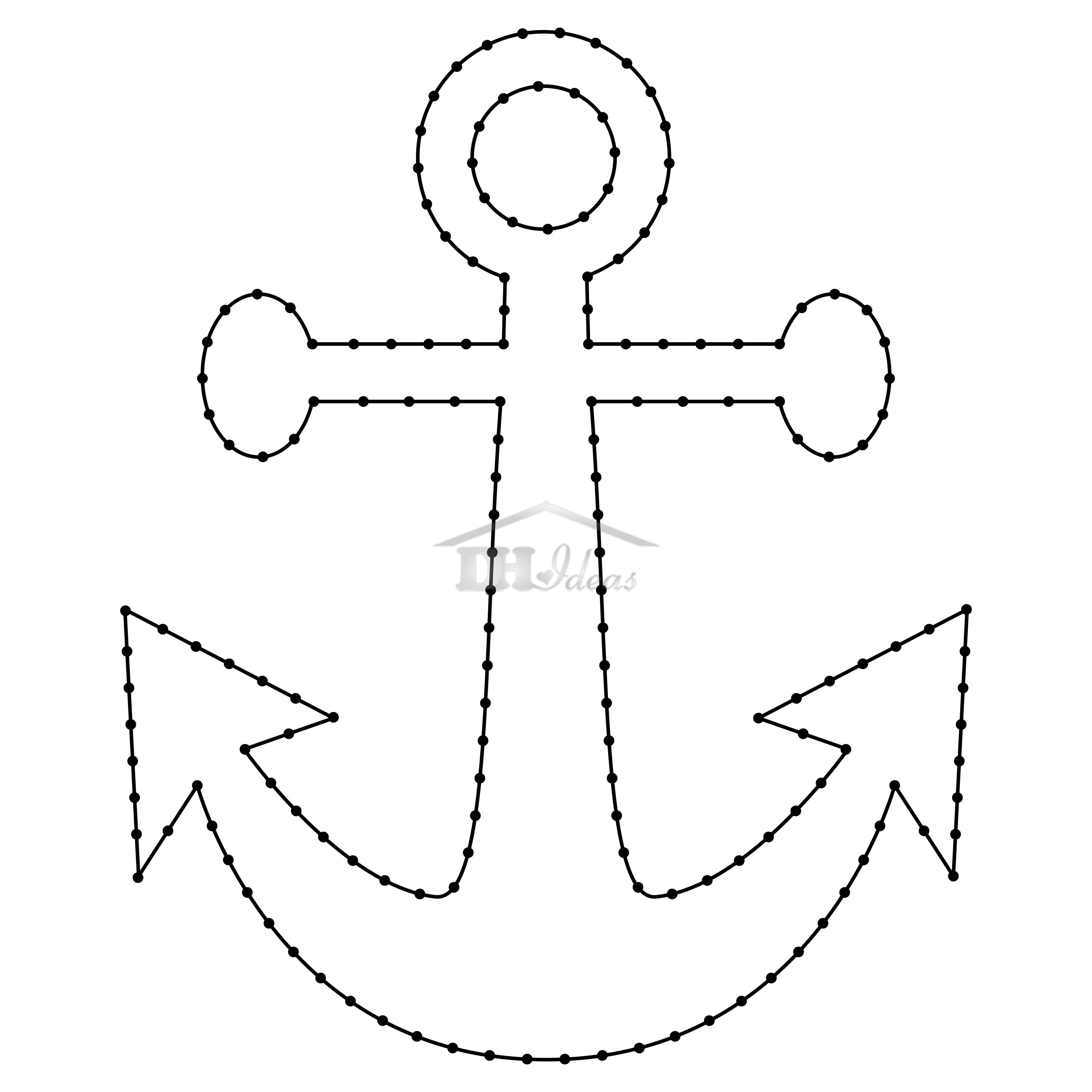 30 Free Printable String Art Patterns (Direct Download) - Free Printable Anchor Template