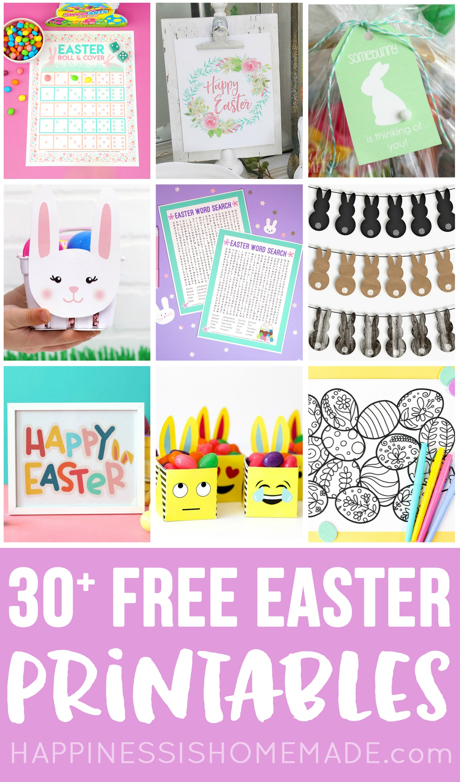 30+ Totally Free Easter Printables - Happiness Is Homemade - Free Printable Easter Basket Name Tags