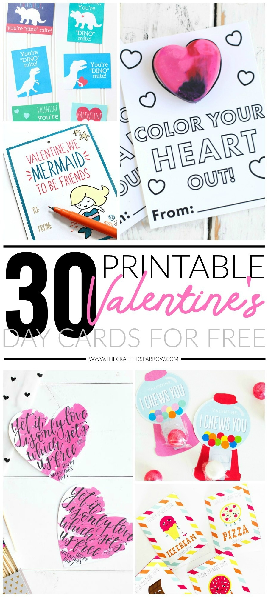 30 Valentines Day Printable Cards - Free Printable School Valentines Cards