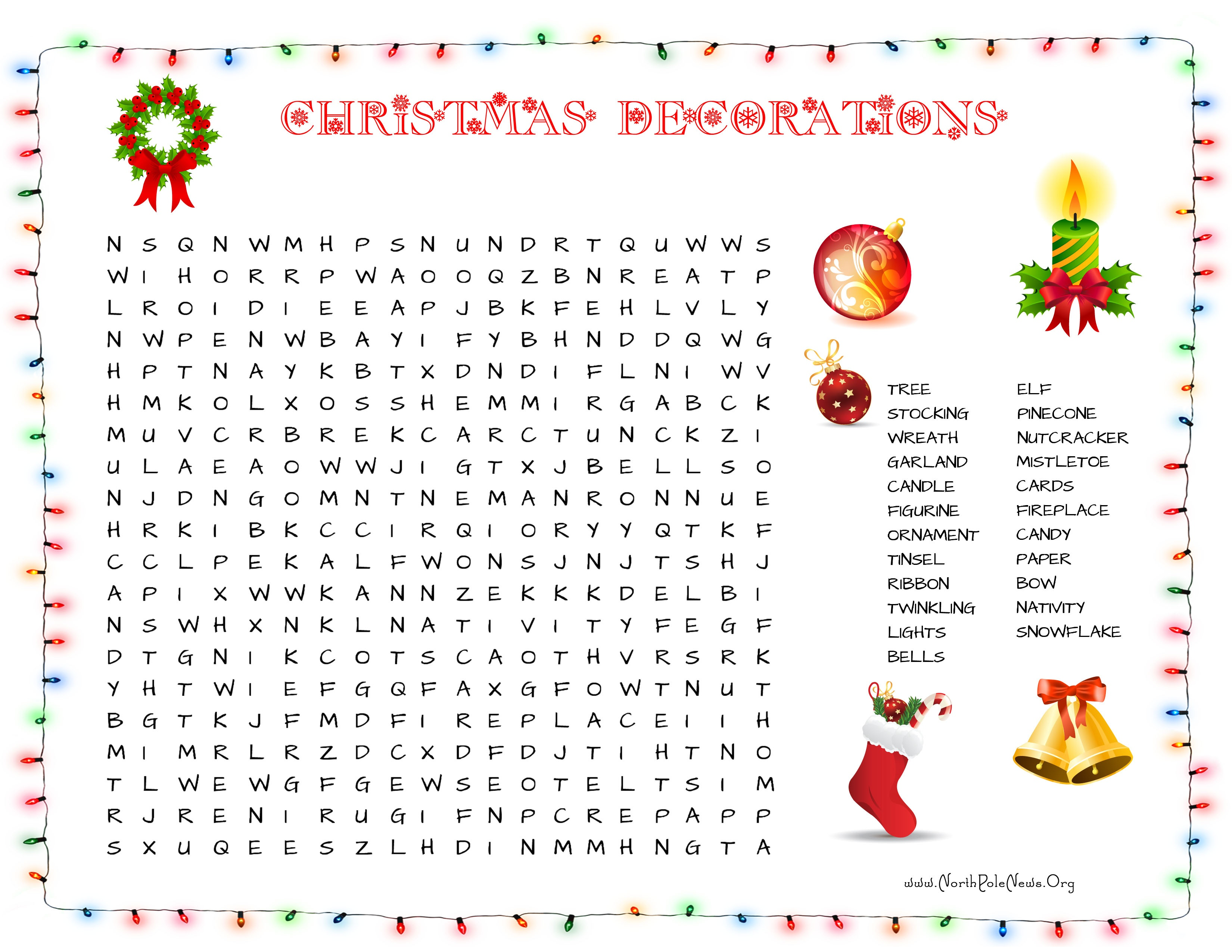 31 Free Christmas Word Search Puzzles For Kids - Free Printable Christmas Puzzles