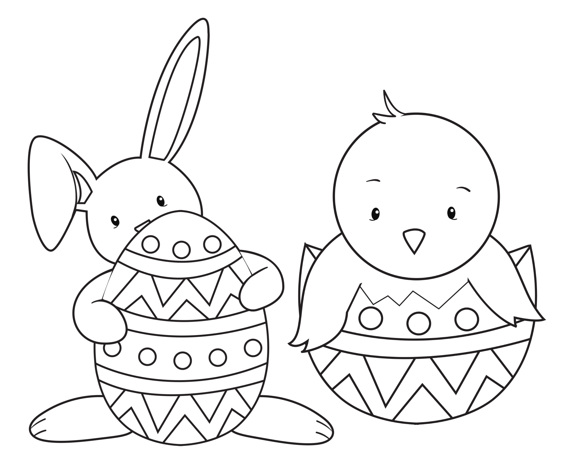 "33 ""happy Easter Coloring Pages"" Free Printable Pictures For Kids - Free Printable Easter Drawings"