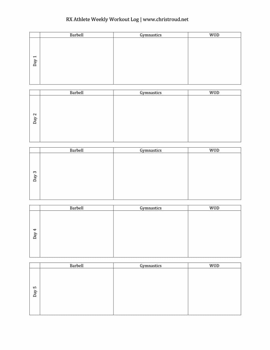 image about Free Printable Workout Log known as Cost-free Printable Training Log Sheets Cost-free Printable