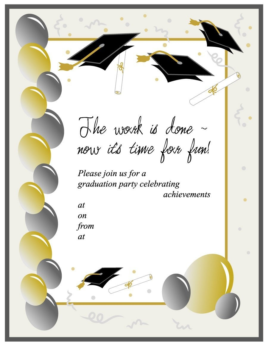 40+ Free Graduation Invitation Templates ᐅ Template Lab - Free Printable Graduation Party Invitations