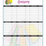 40+ Printable Grocery List Templates (Shopping List) ᐅ Template Lab   Free Printable Grocery List