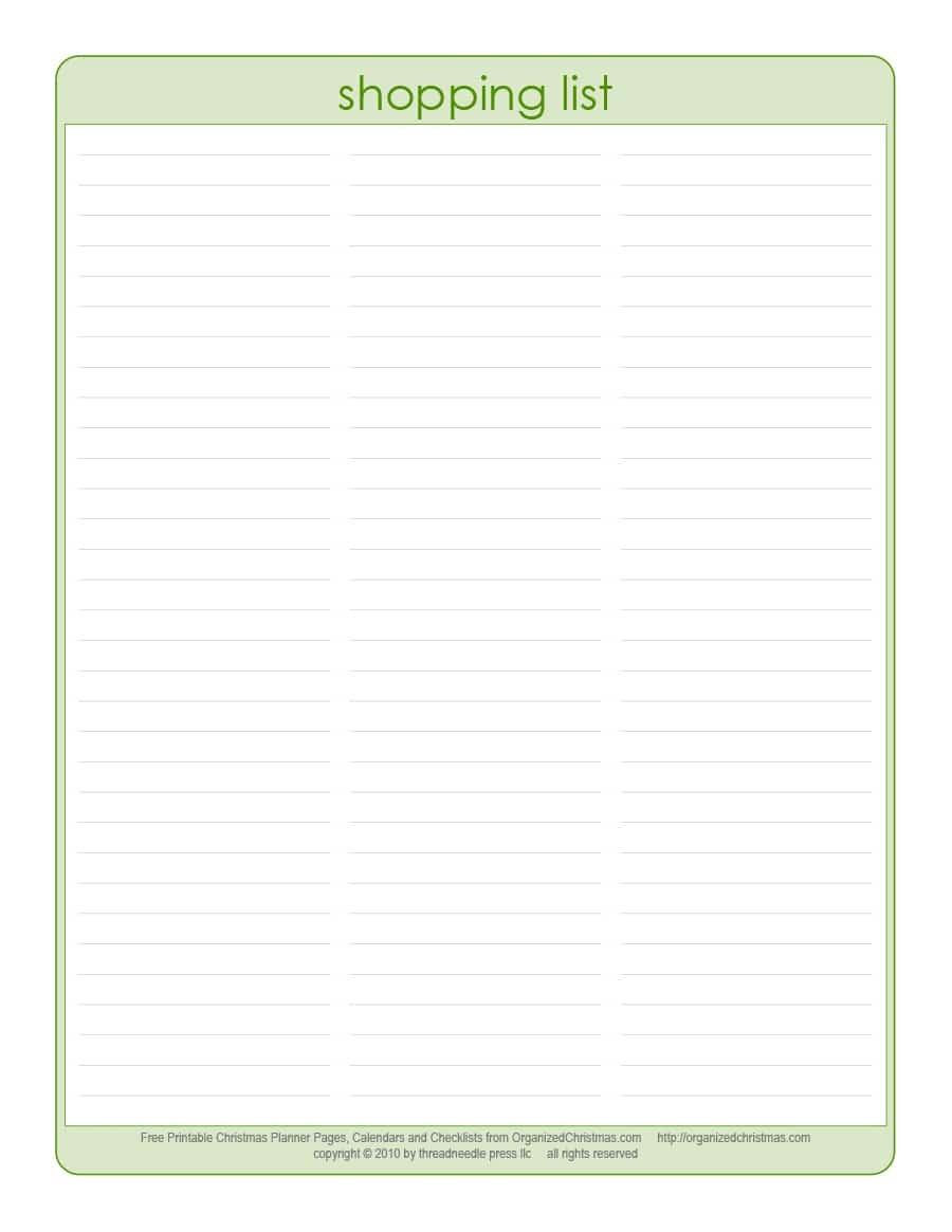 40+ Printable Grocery List Templates (Shopping List) ᐅ Template Lab - Free Printable List