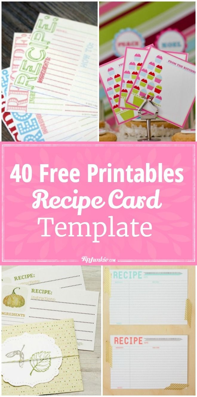 40 Recipe Card Template And Free Printables   Printables   Printable - Free Printable Recipe Cards