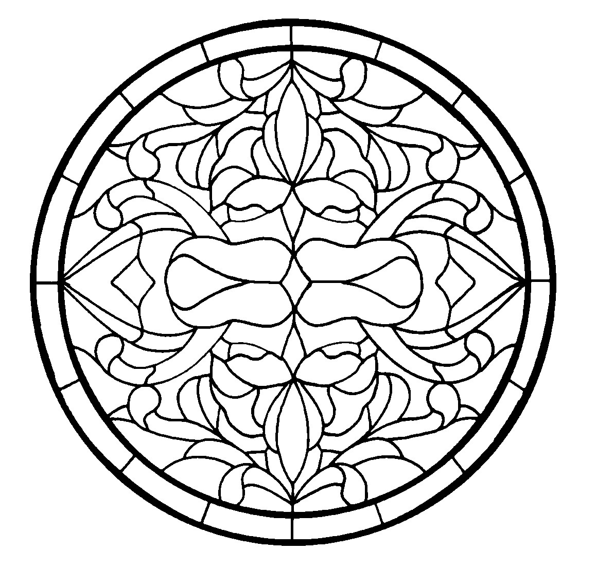 45 Simple Stained Glass Patterns   Guide Patterns - Free Printable Religious Stained Glass Patterns