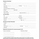 47 Printable Employee Information Forms (Personnel Information Sheets) – Free Printable Hr Forms