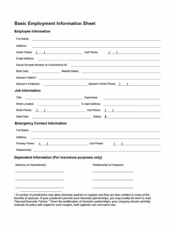Free Printable Hr Forms