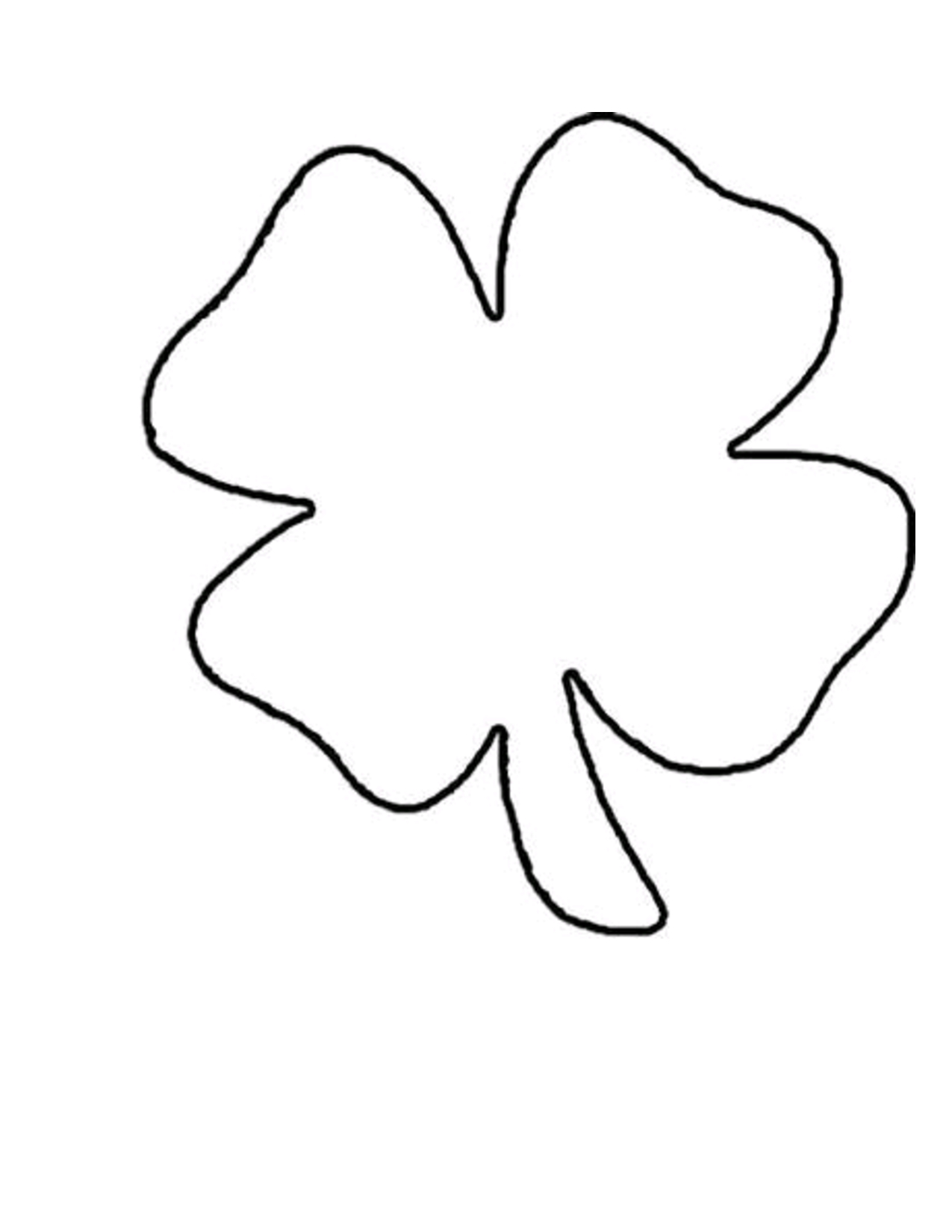 4+Clover+Leaf+Template+Shamrock+Pattern | St. Patricks | Shamrock - Four Leaf Clover Template Printable Free