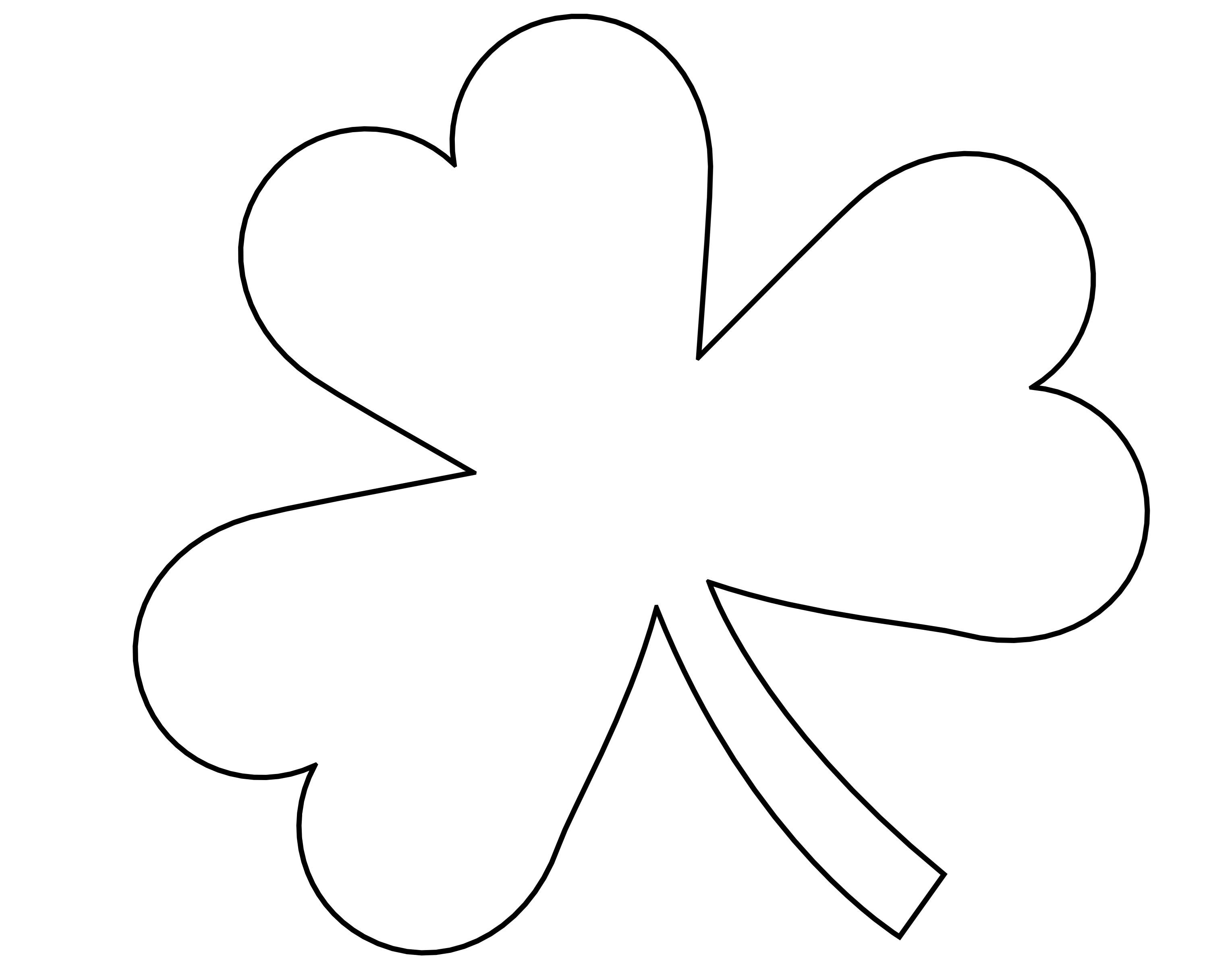 5 Best Images Of Four Leaf Shamrock Template Printable - St - Free Printable Shamrock Cutouts