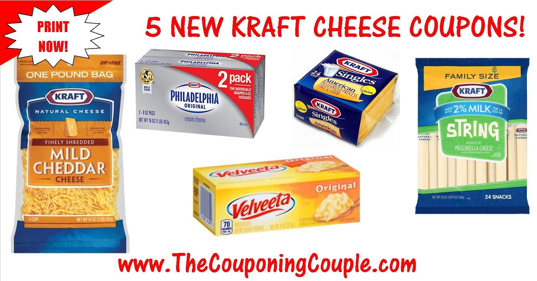 5 New Kraft Cheese Printable Coupons ~ Print Now! - Free Printable Kraft Food Coupons