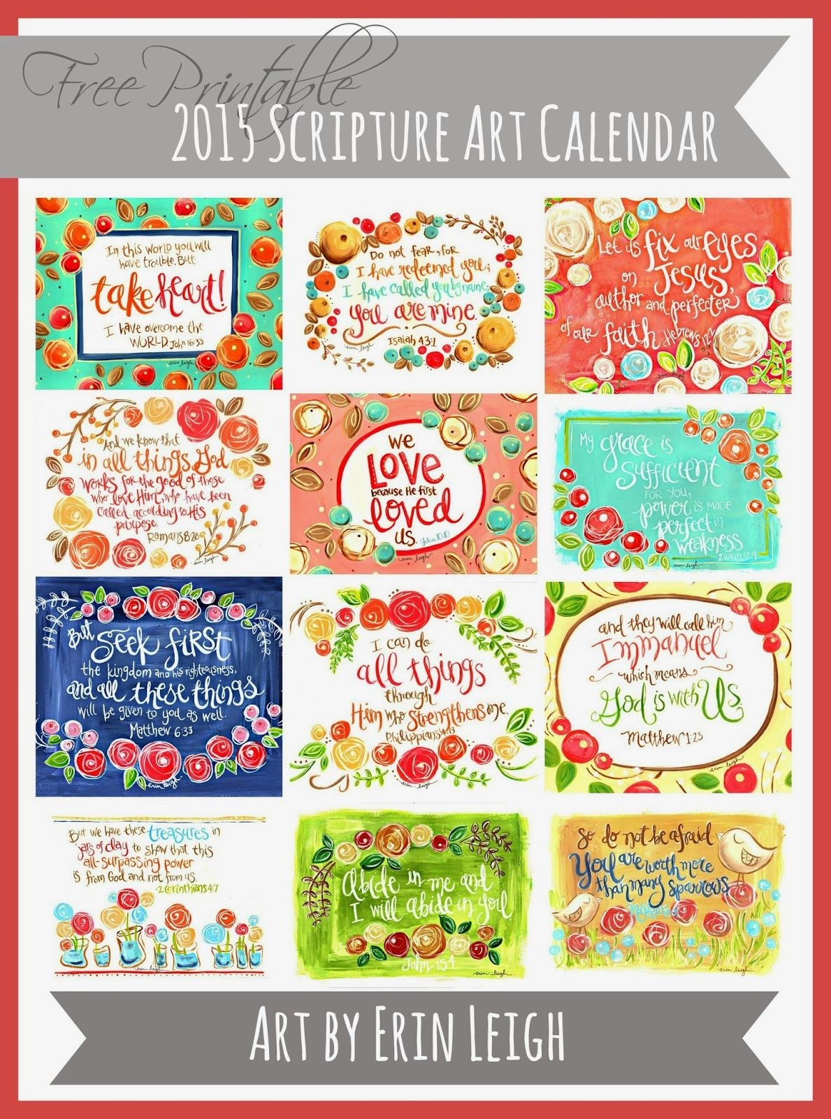 50+ 2015 Free Printable Calendars | Lolly Jane | Features - Free Printable Christian Art