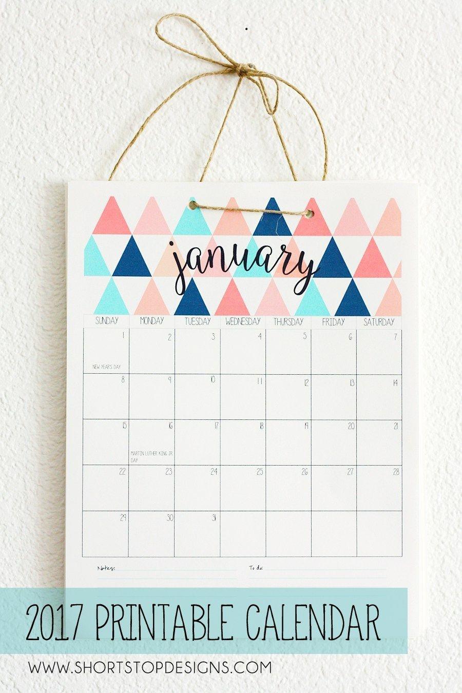50+ 2017 Free Printable Calendars | Crafty | 2018 Printable Calendar - Free Printable Agenda 2017