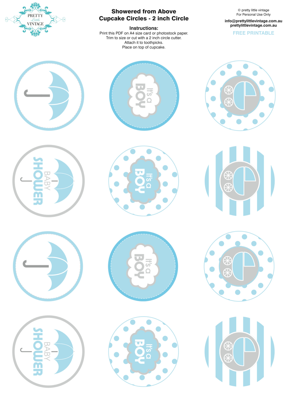 50+ Free Baby Shower Printables For A Perfect Party - Page 41 - Free Printable Whale Cupcake Toppers