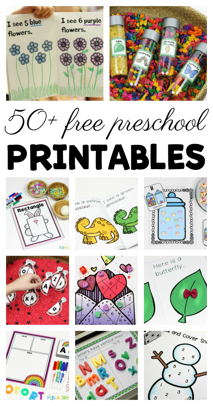 50+ Free Preschool Printables For Early Childhood Classrooms - Free Printable Preschool Teacher Resources