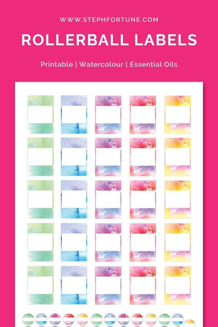 5Ml Rollerball Labels Blank | Printable 10Ml Essential Oil Labels - Free Printable Roller Bottle Labels