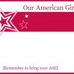 6/18/14American Girl Party Printablesamerican Girl Party Printables   American Girl Party Invitations Free Printable