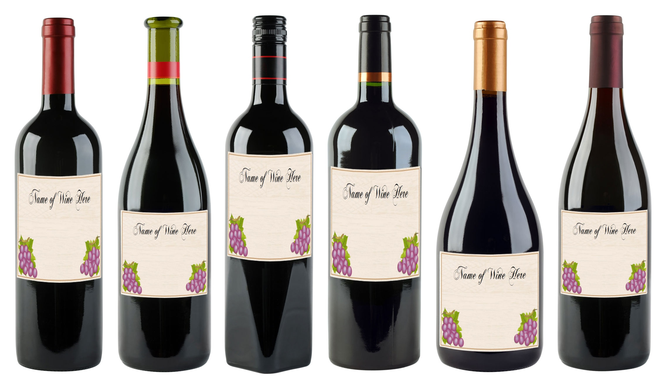 6 Free Printable Wine Labels You Can Customize | Lovetoknow - Free Printable Wine Labels