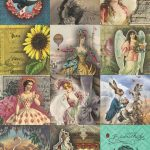 7 Free Creative Collage Sheet Printables For Decoupage Tissue Paper   Free Printable Decoupage Flowers