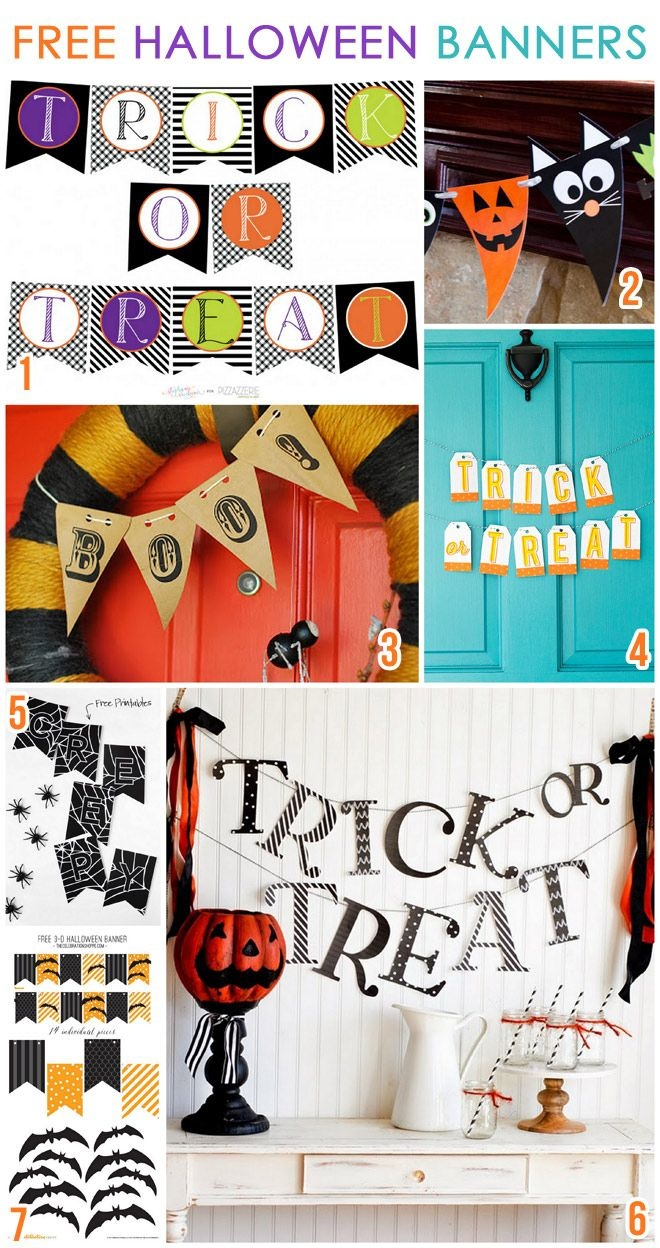 7 Free Printable Halloween Banners | Bloggers Best | Halloween Party - Free Printable Halloween Decorations Scary