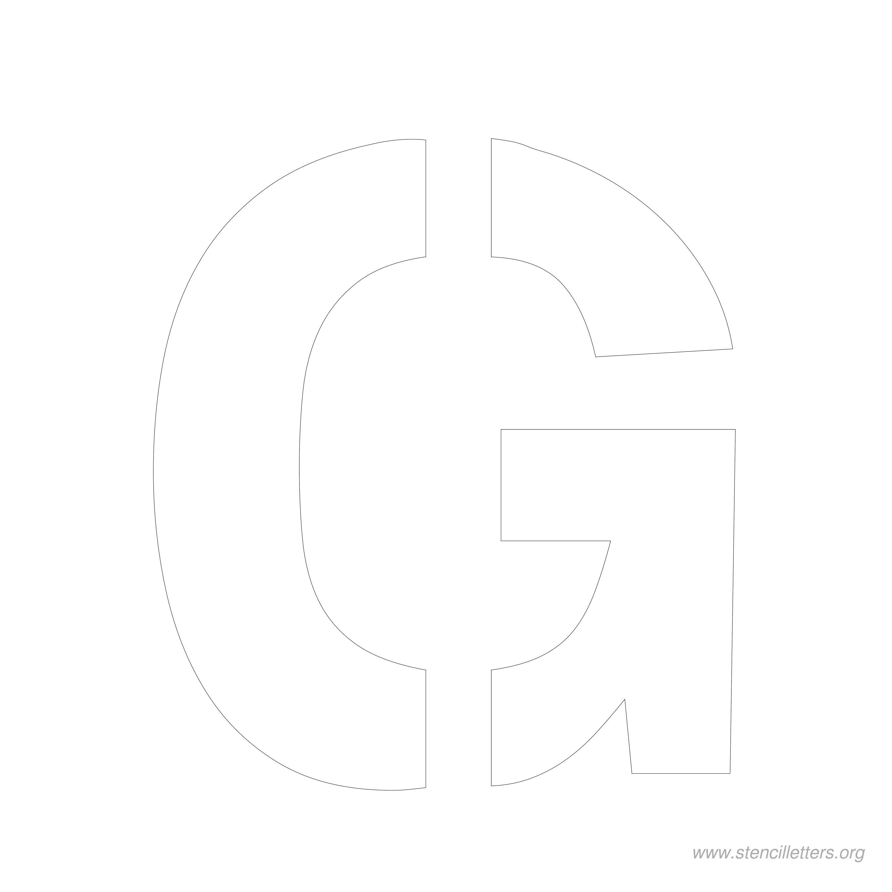 7 Inch Stencil Letter G | Stencils | Letter Stencils, Lettering - Free Printable 8 Inch Letters