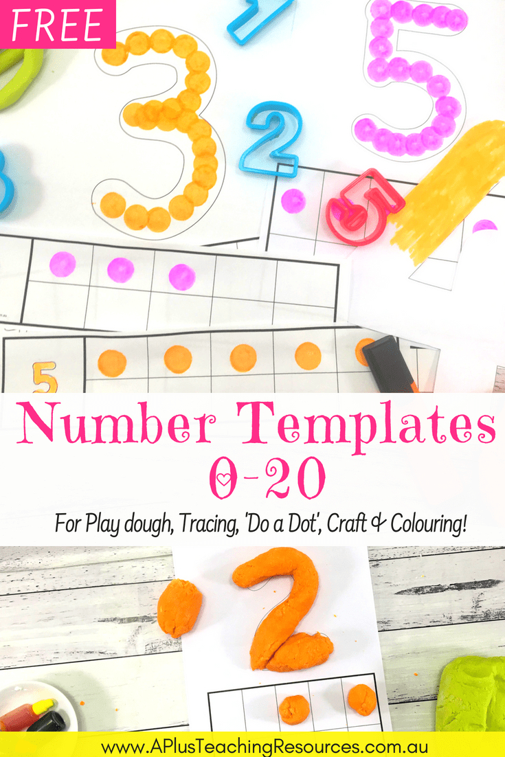 75 Free Printable Numbers Templates 0-20 - Perfect For Hands-On Math! - Free Printable Numbers