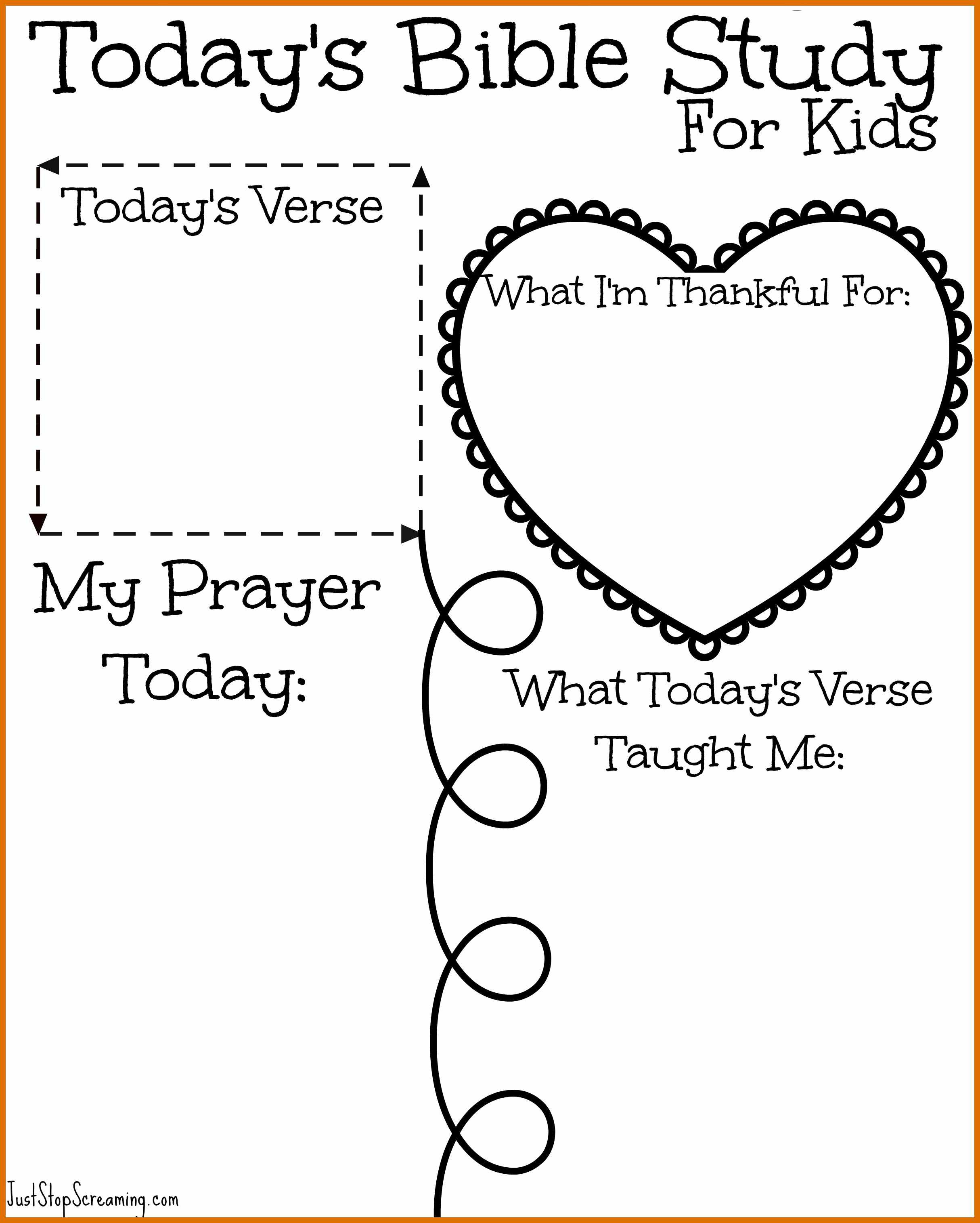8-9 Free Printable Bible Study Worksheets | Sowtemplate - Free Printable Children's Bible Lessons