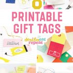 8 Colorful & Free Printable Gift Tags For Any Occasion!   Free Printable Customizable Gift Tags