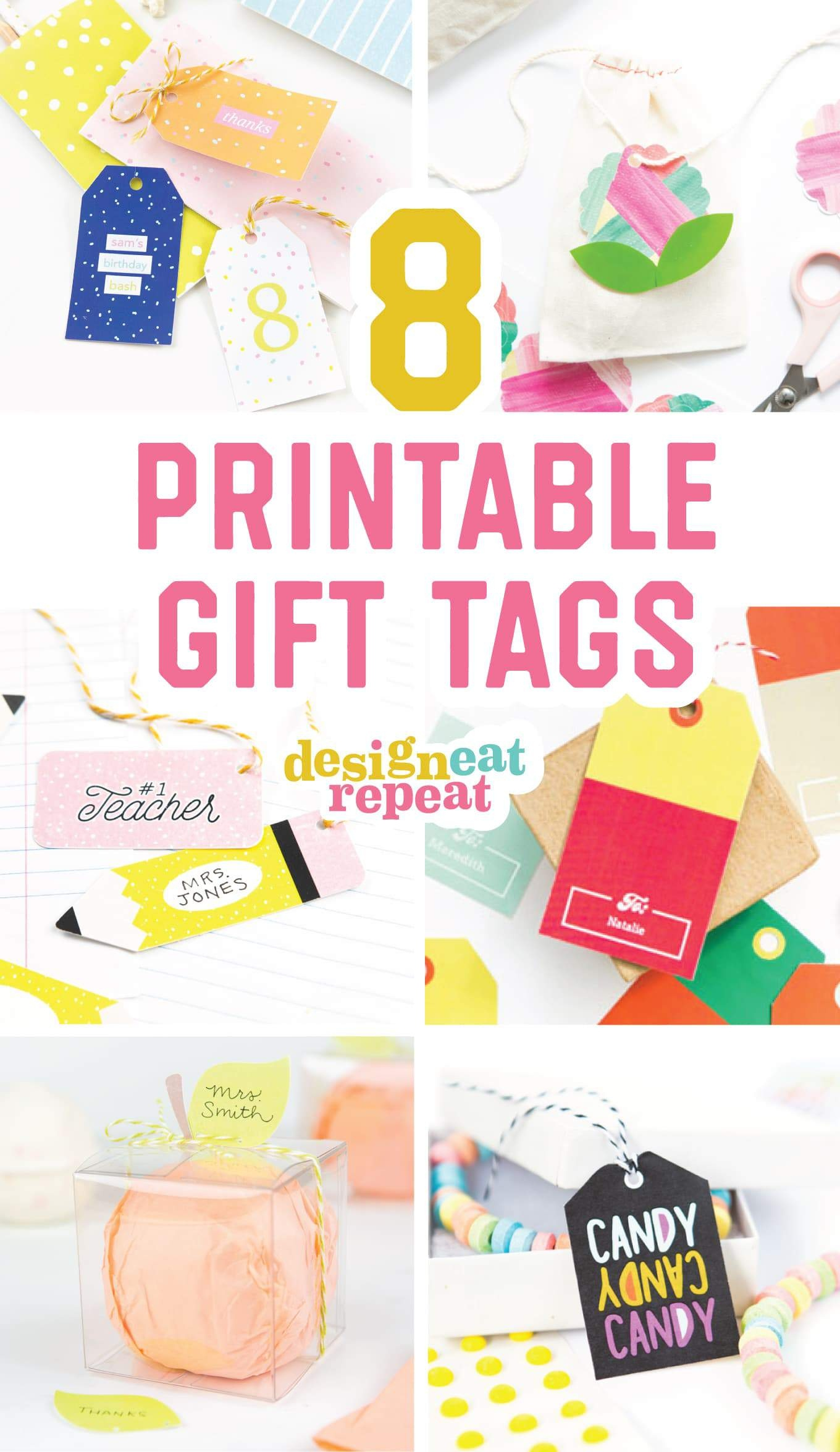 8 Colorful & Free Printable Gift Tags For Any Occasion! - Free Printable Gift Bag Tags