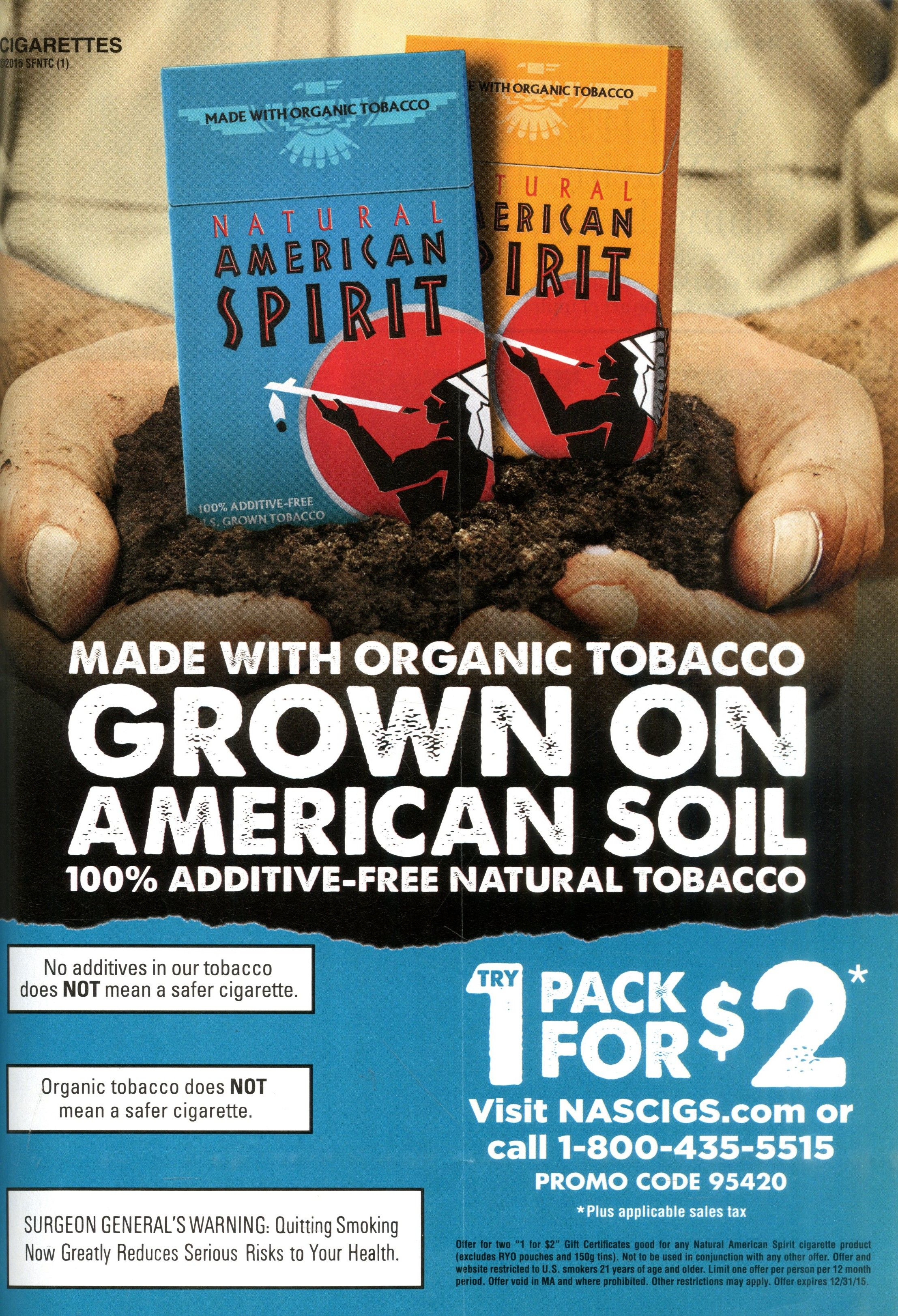 8. Natural American Spirit Cigarettes Source: Glamour, Mar. 2015 - Free Printable Newport Cigarette Coupons