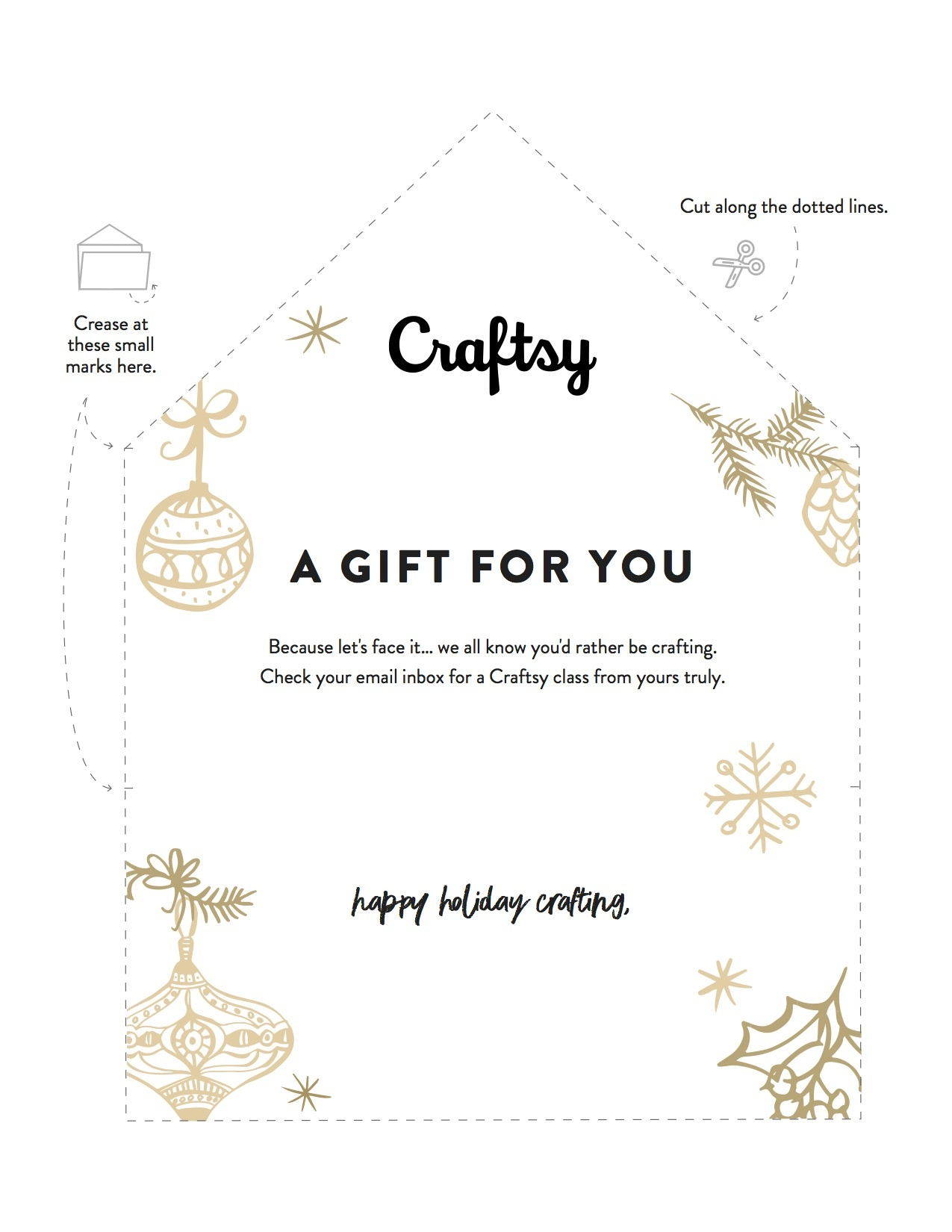 A Free Printable Gift Certificate For Craftsy Classes - Free Printable Xmas Gift Certificates