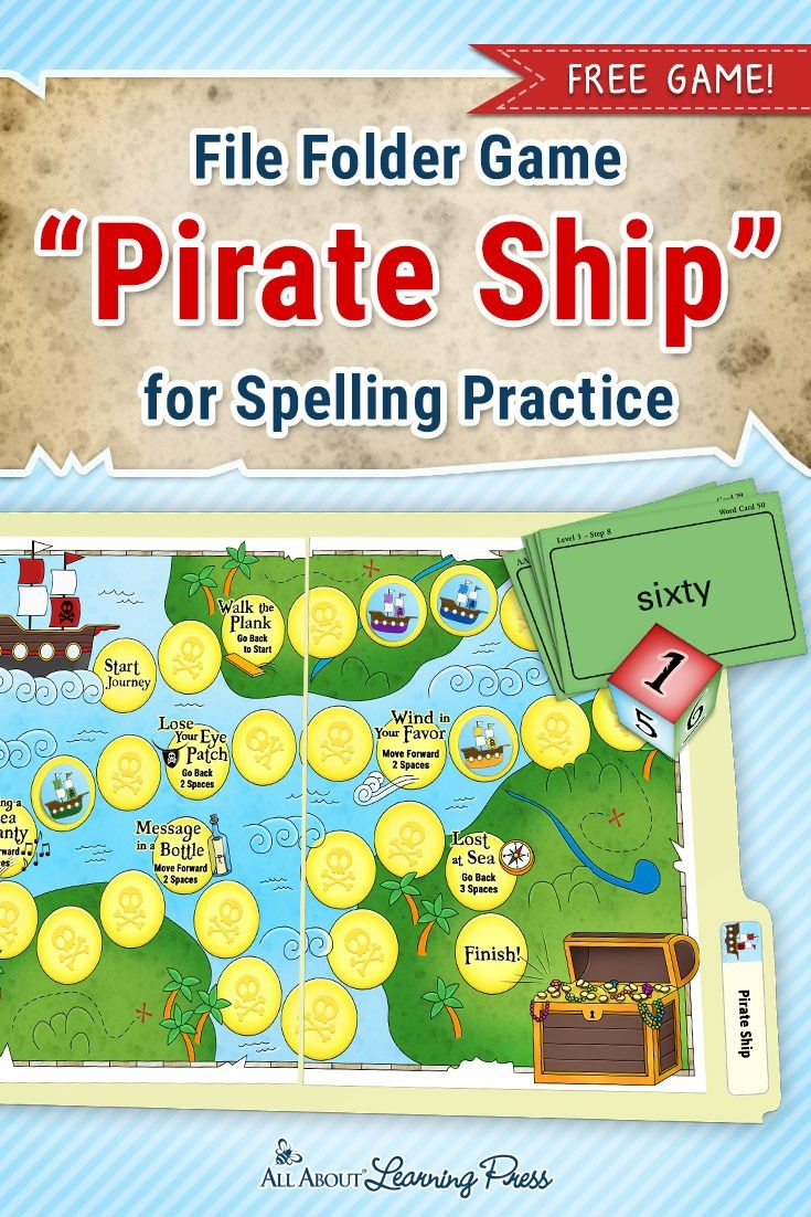 A Treasure Trove Of Pirate Activities For Reading And Spelling - Free Printable Fall File Folder Games