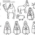 Adult Coloring Pages Of The Nativity Free In Nativity Coloring Pages   Free Printable Nativity Story Coloring Pages