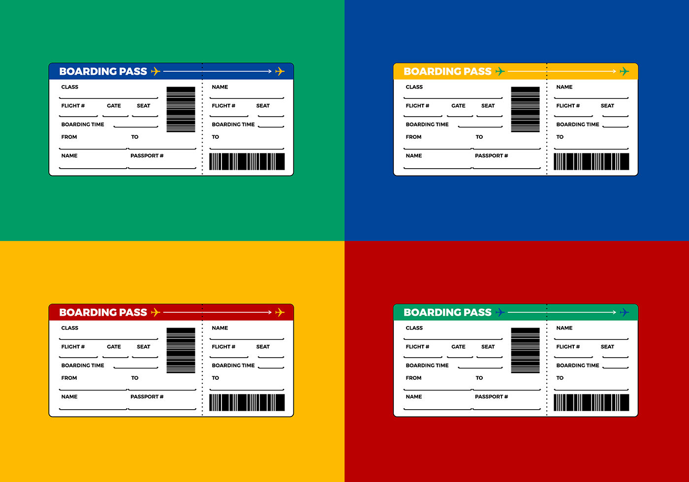 Airline Ticket - Boarding Pass Vector - Download Free Vector Art - Free Printable Boarding Pass