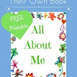 All About Me Book With Free Printable | Homeschooling | All About Me   Free Printable Preschool Memory Book