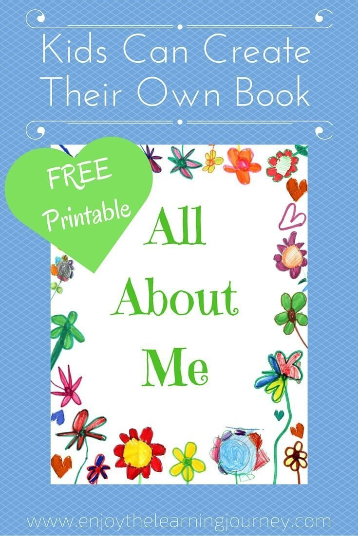 All About Me Book With Free Printable | Homeschooling | All About Me - Free Printable Preschool Memory Book