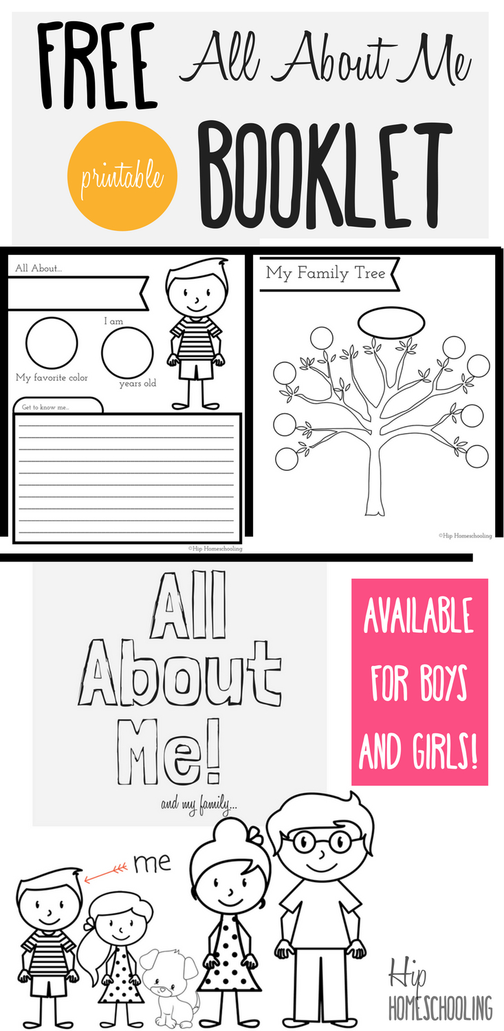 All About Me Worksheet: A Printable Book For Elementary Kids | Kids - All About Me Free Printable