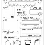 All About Me Worksheet   Free Esl Printable Worksheets Made   Free Printable Preschool Teacher Resources