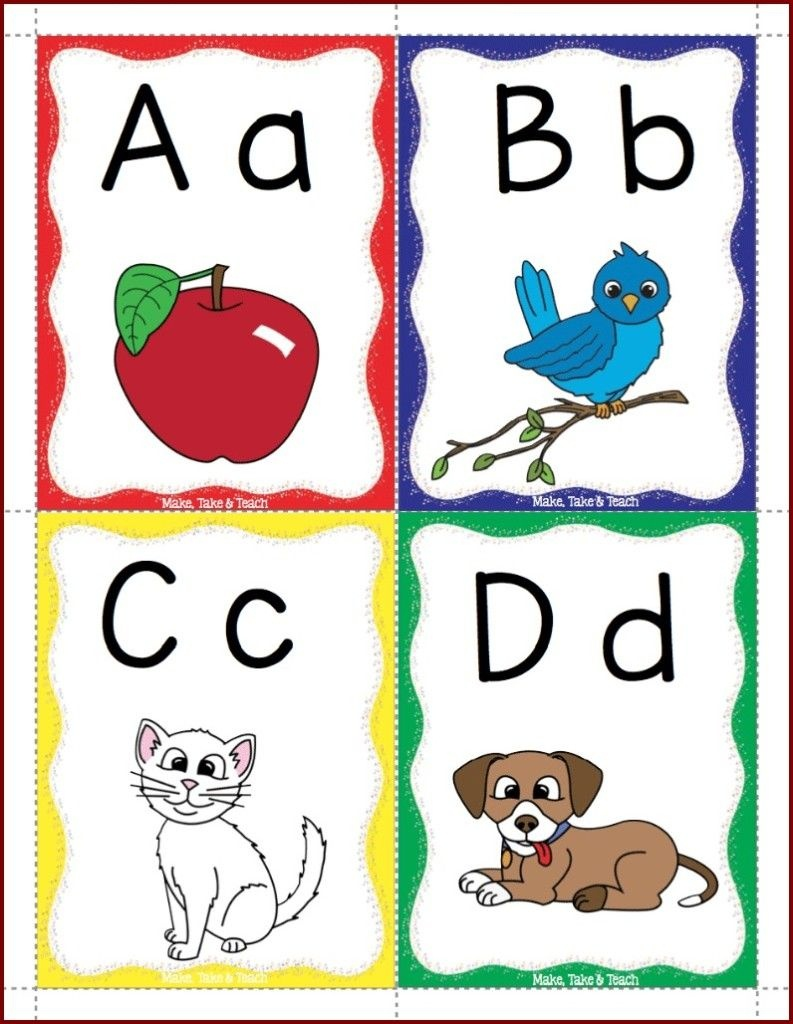 Alphabet Flashcards Freebie! | Reading And Writing | Phonics - Free Printable Abc Flashcards With Pictures