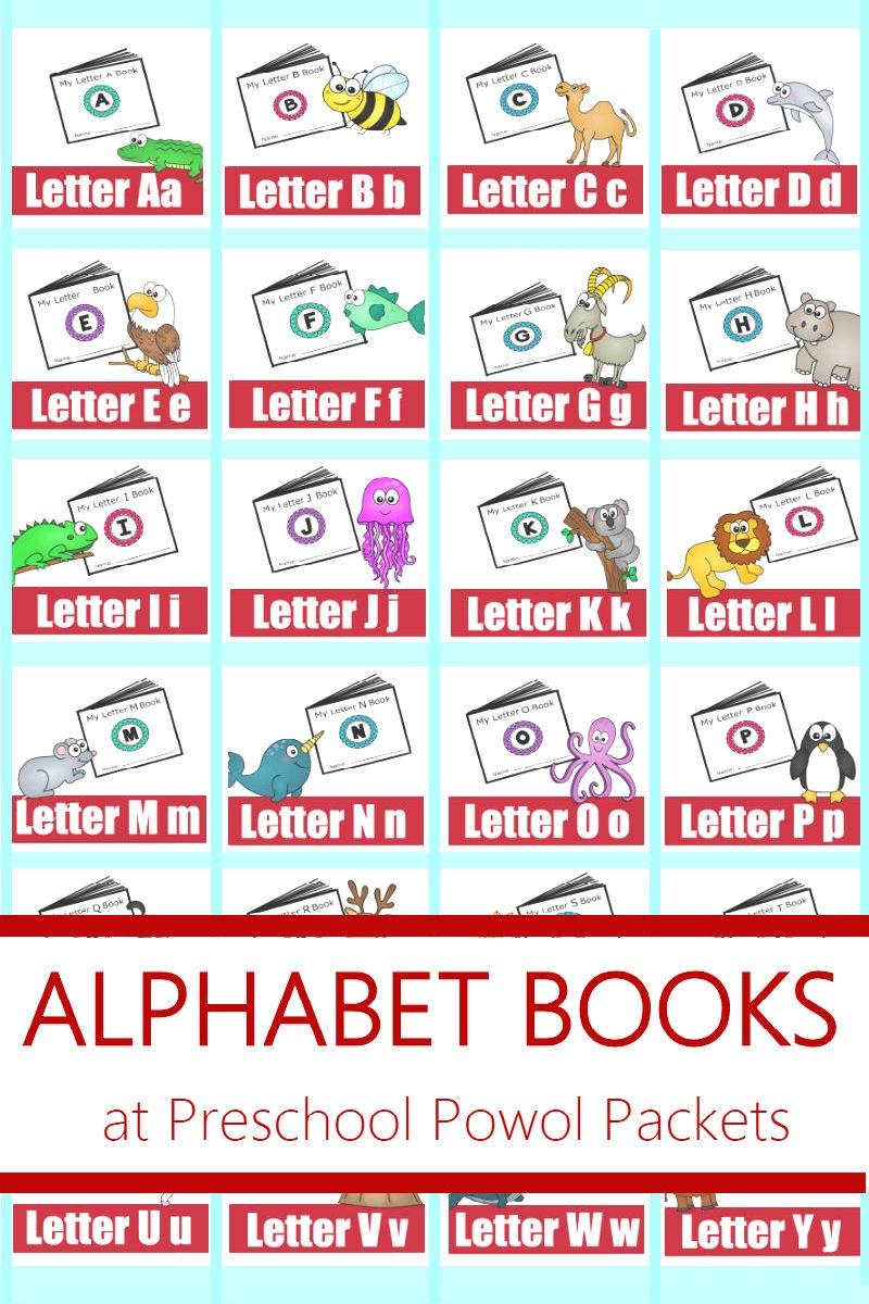 Alphabet! Free Printable Mini Books | Preschool Powol Packets - Free Printable Abc Mini Books