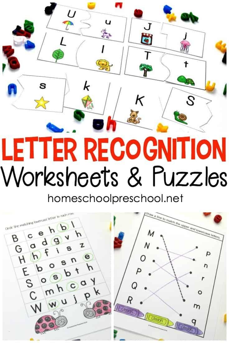 Alphabet Printables For Your Homeschool Preschool - Free Printable Letter Recognition Worksheets