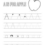 Alphabet Tracer Pages A For Apple | Coloring Pages | Alphabet   Free Printable Preschool Name Tracer Pages