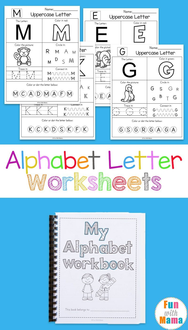 Alphabet Worksheets | Free Printables | Letter Worksheets, Alphabet - Free Printable Alphabet Pages