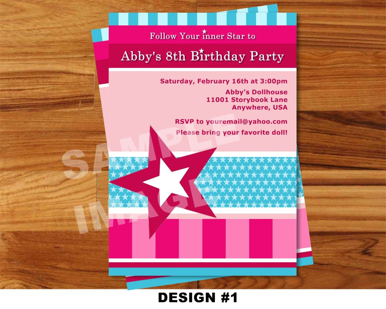 American Girl Birthday Invitations Free Printable   American Girl - American Girl Party Invitations Free Printable