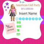 American Girl Birthday Party Invitations: Free Printables   Ag Doll   American Girl Party Invitations Free Printable