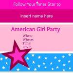 American Girl Party Invitations • American Girl Ideas   American   American Girl Party Invitations Free Printable